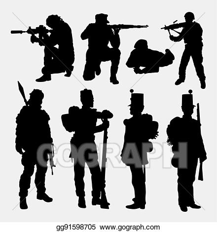 Vector illustration soldier army. Military clipart military training