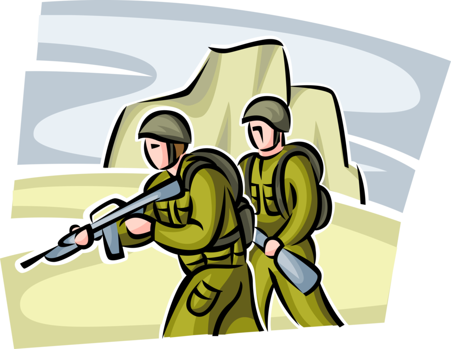 Soldiers clipart group soldier. Marine in combat war
