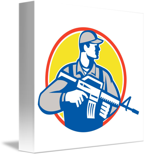 Soldiers clipart serviceman. Soldier military assault rifle