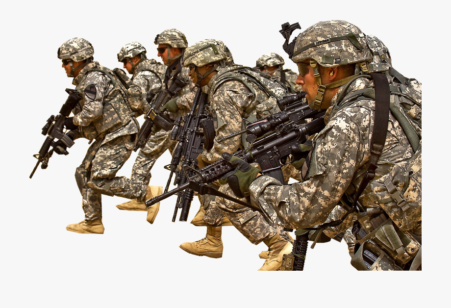 Soldiers going to war. Military clipart soldier usa