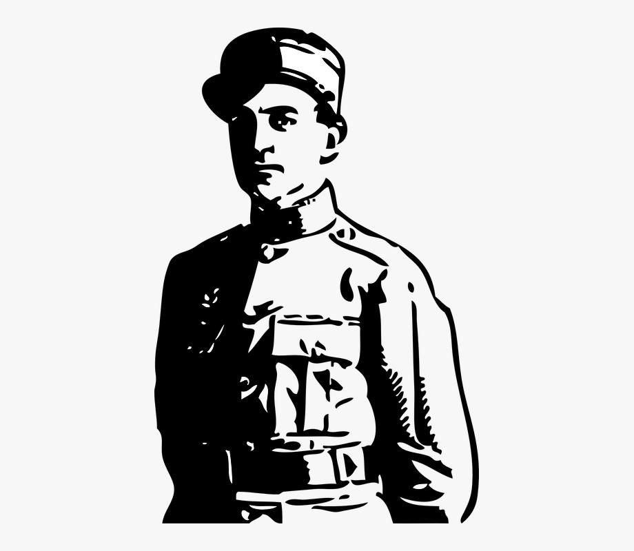 Officer man world war. Military clipart soldier ww1