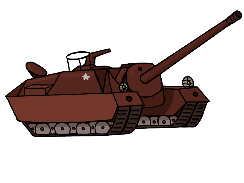 T tank destroyer by. Military clipart turret