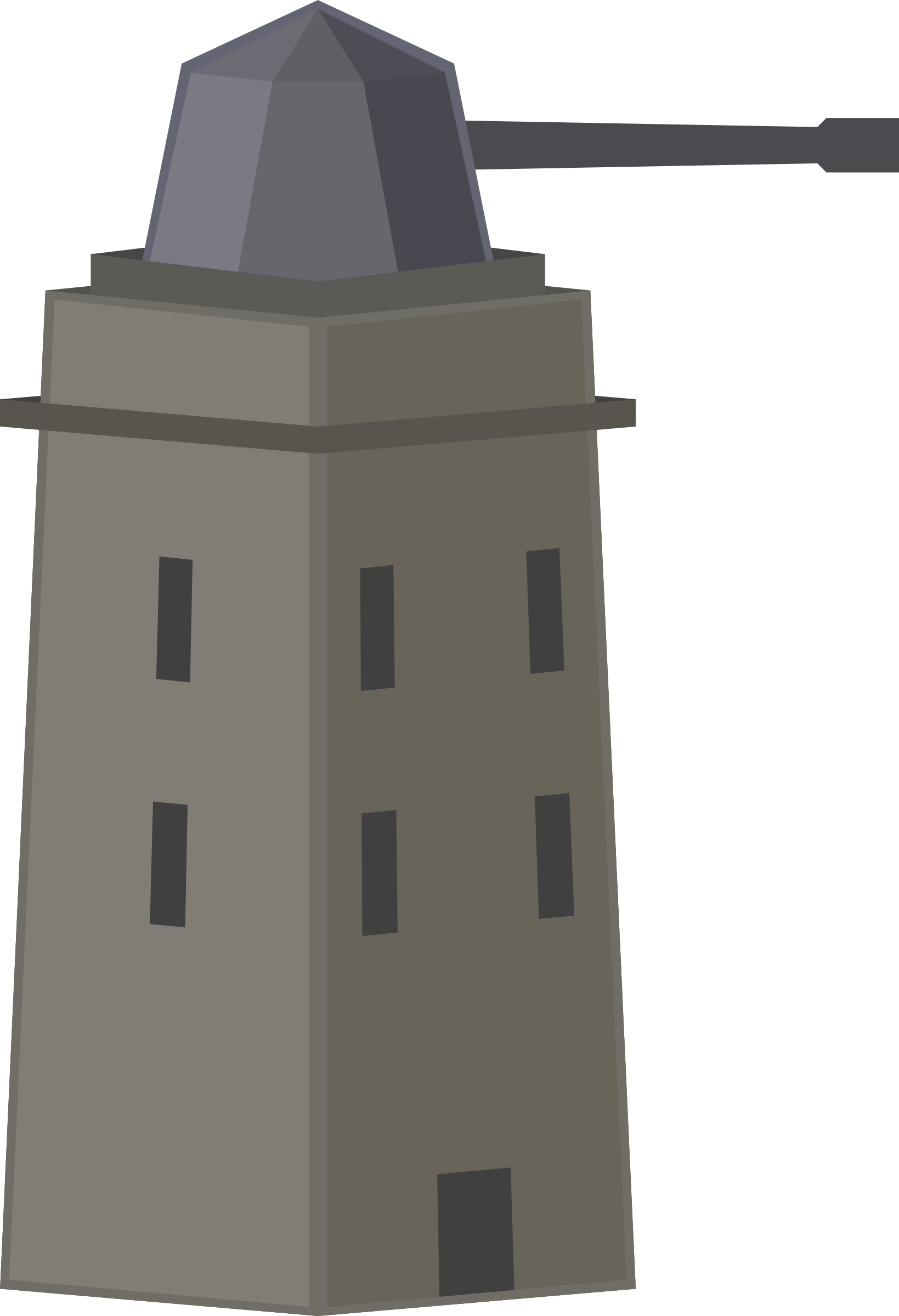 Military clipart turret. Anti air tower or