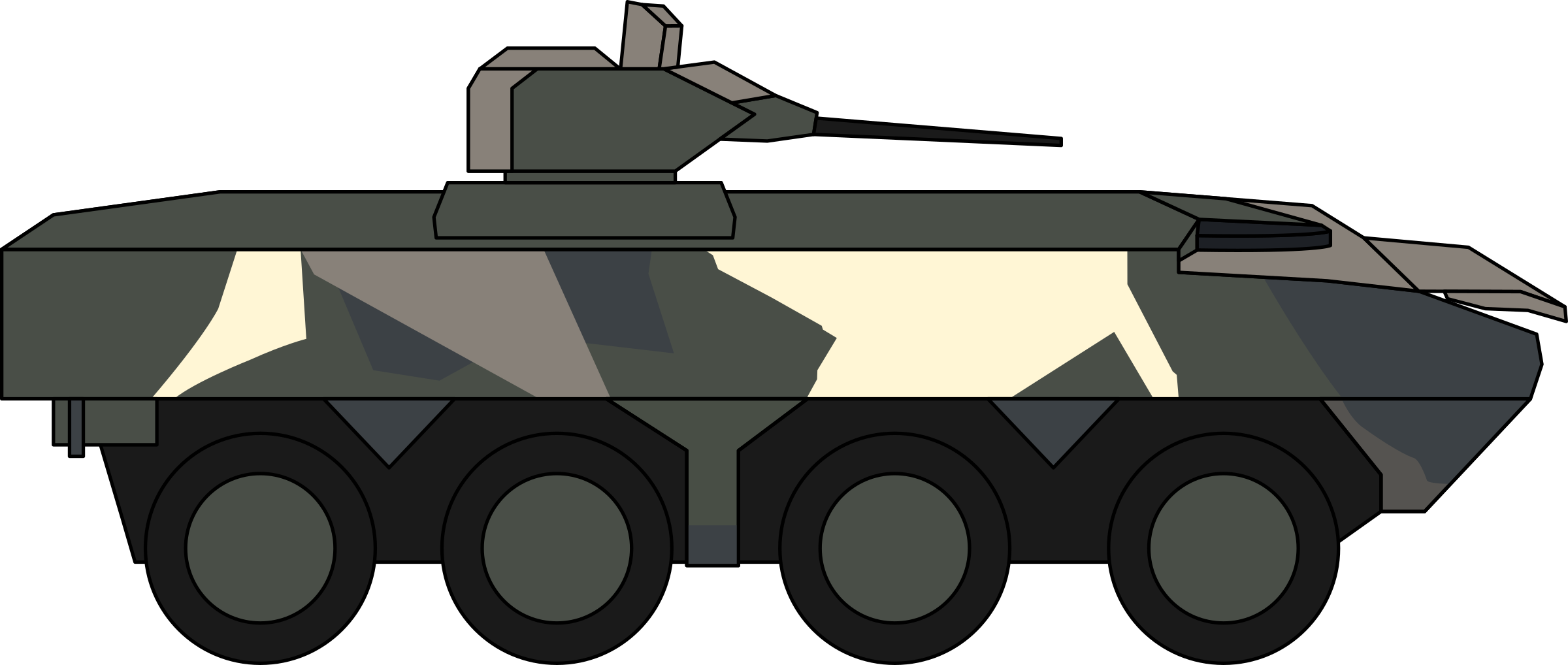 Military clipart turret. Deftech av big image