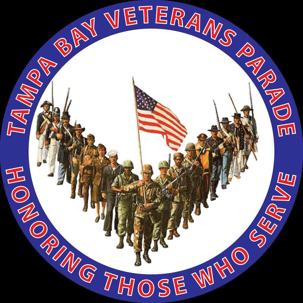 Military clipart veterans parade. Tampa bay honoring those