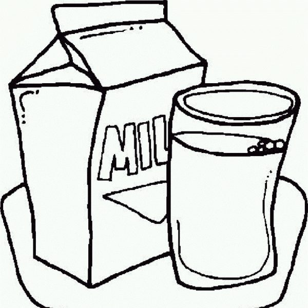 Free glass of download. Milk clipart black and white