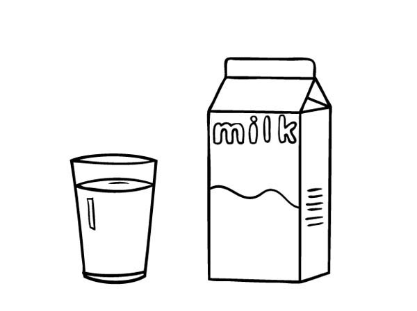 Milk clipart coloring. A glass of and