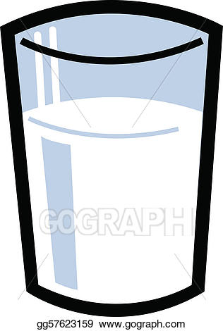 Vector stock of illustration. Milk clipart empty glass