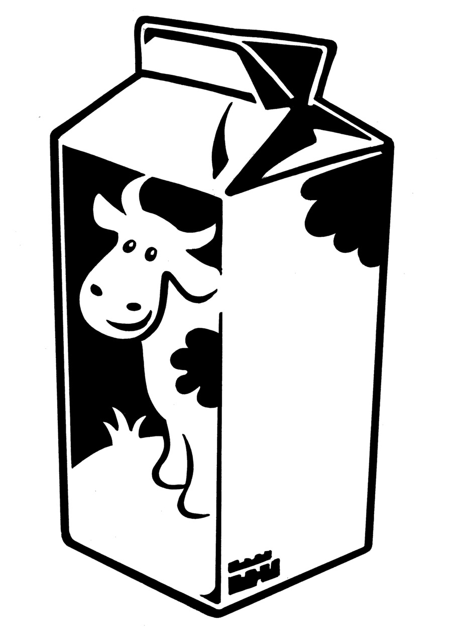 Milk clipart milk container. Download black and white