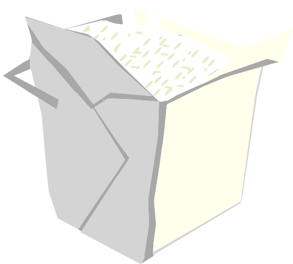 Take out box clip. Milk clipart simple
