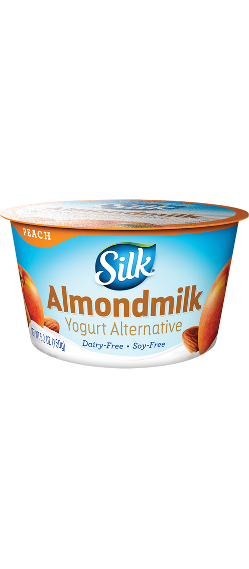 Peach almond free alternative. Yogurt clipart dairy product