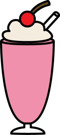 Strawberry . Milkshake clipart