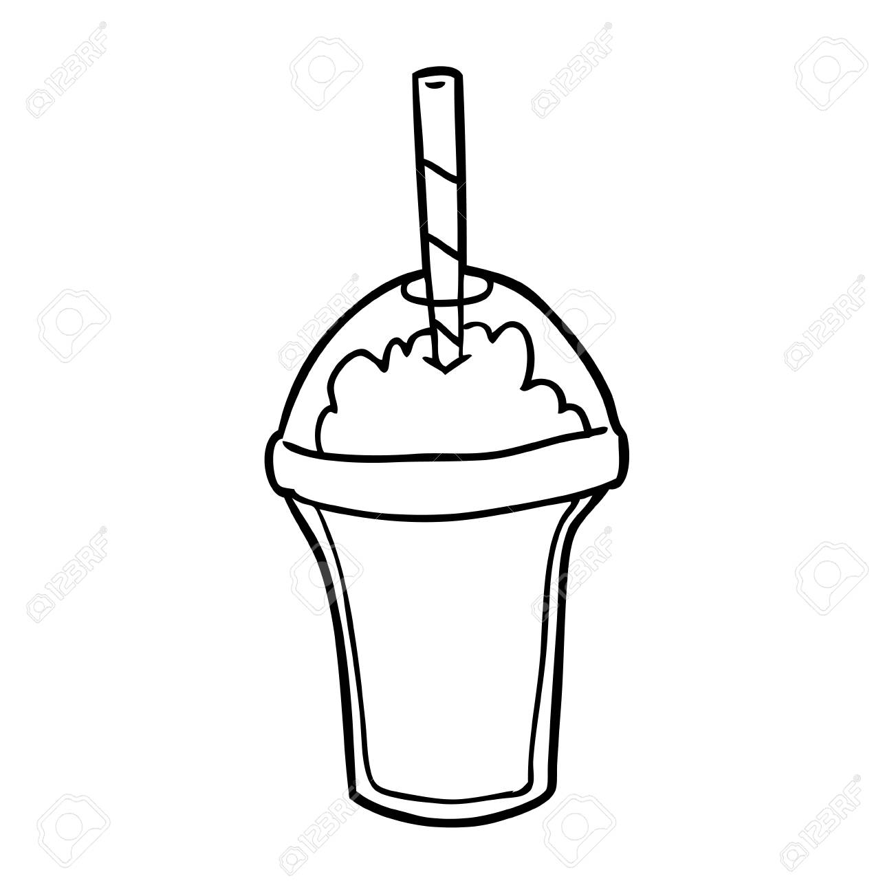 Sketch at paintingvalley com. Milkshake clipart hand drawn