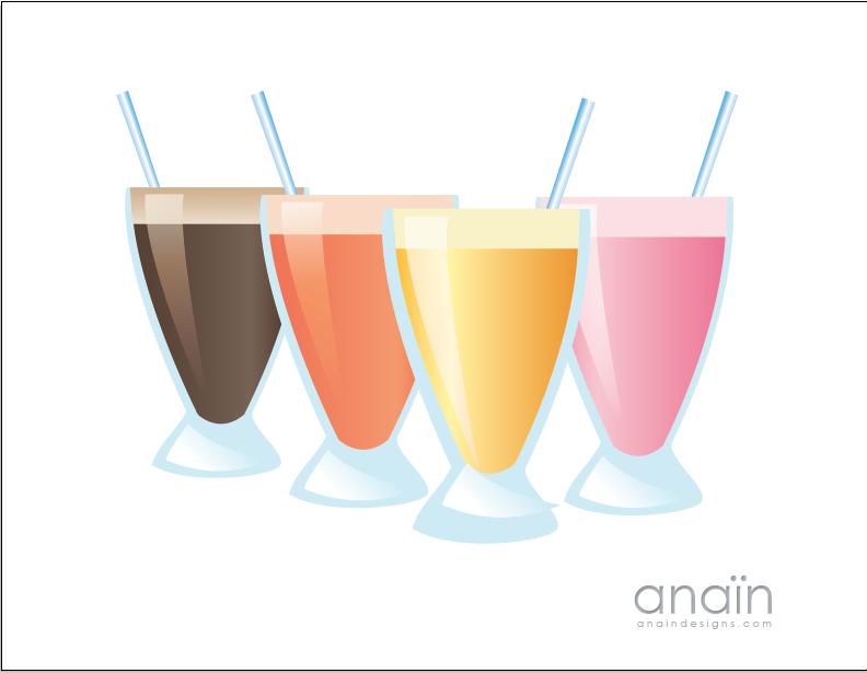 Milkshake clipart vector. Download vectors page clip