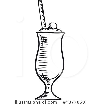 Milkshake clipart vector. Illustration by tradition sm