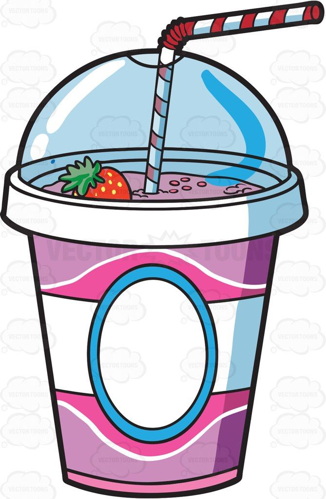 Milkshake clipart vector. A cup of fresh