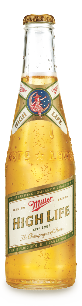 High life the champagne. Miller lite bottle png