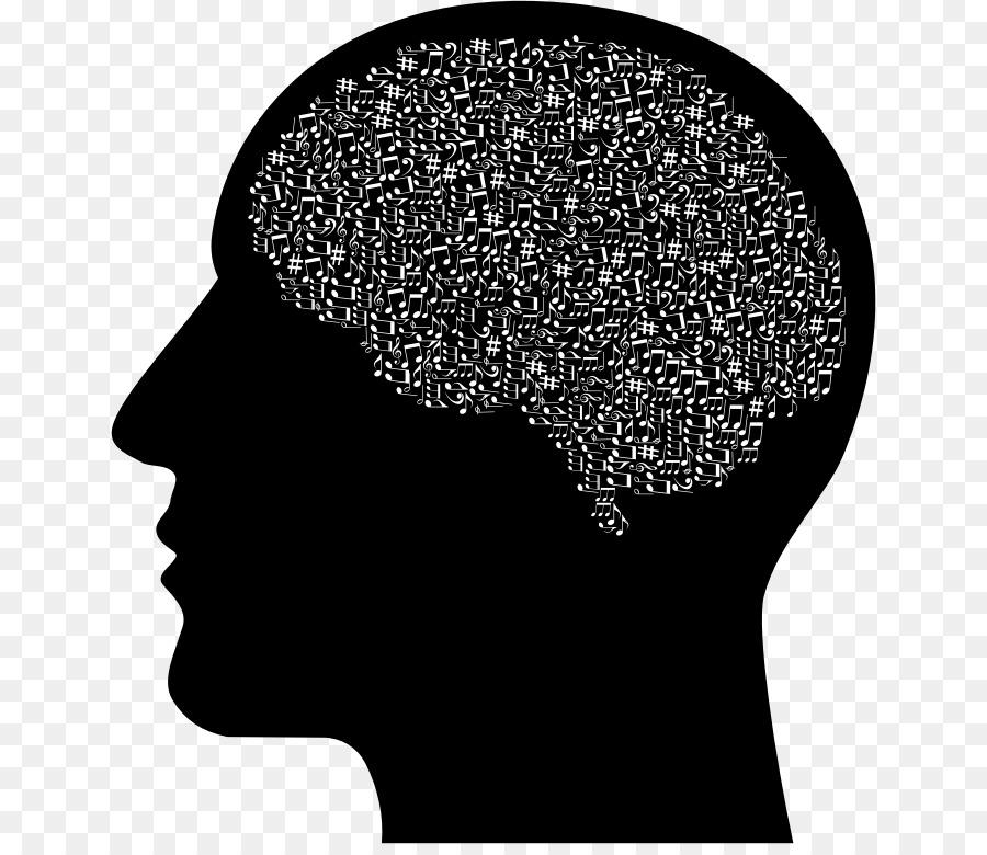 Head transparent . Brain clipart silhouette