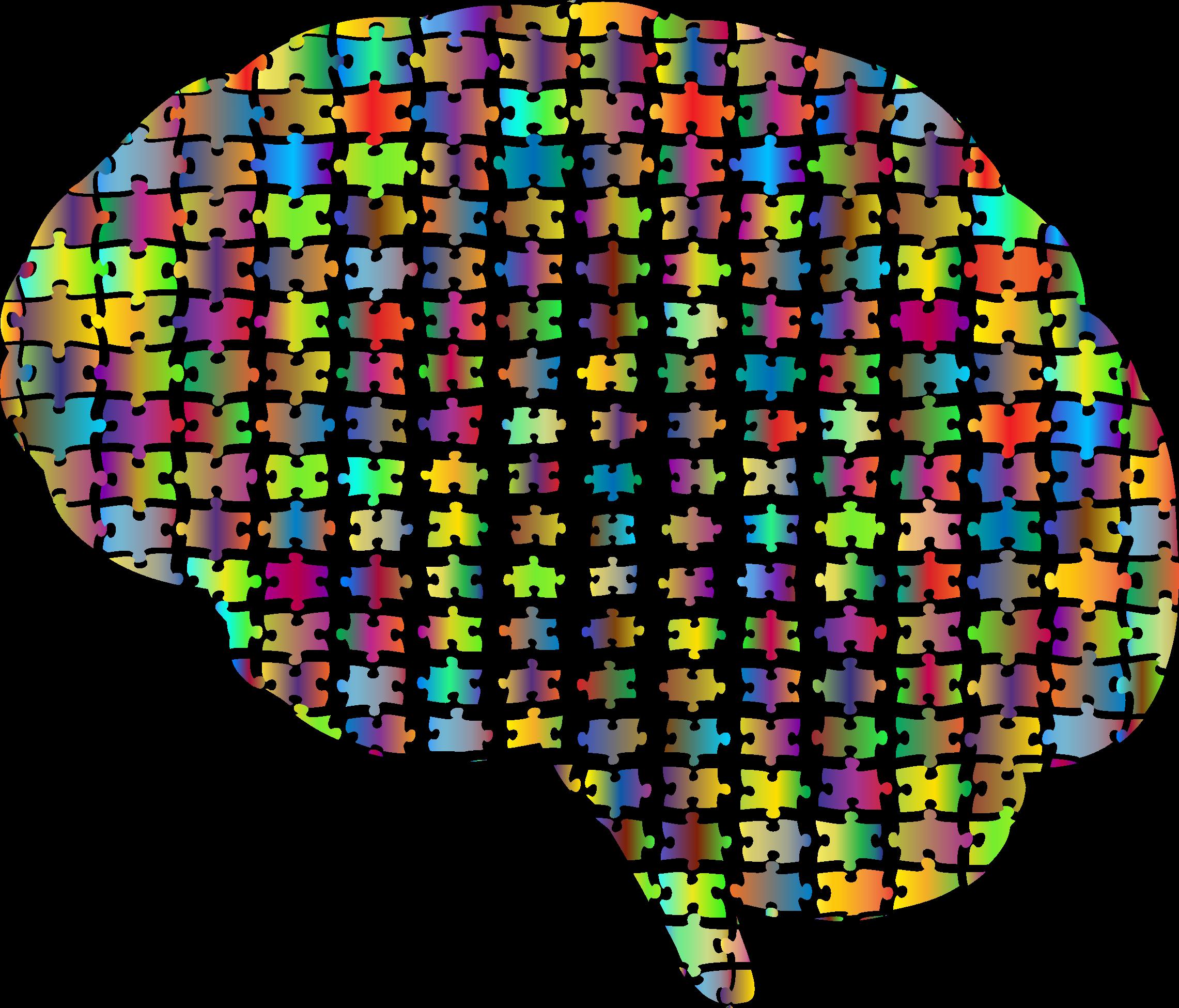Gaps brain jigsaw prismatic. Psychology clipart puzzle head