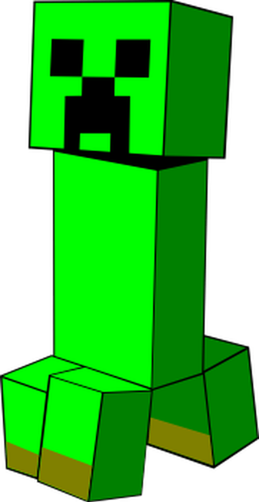 Zombie clipart minecraft. A creeper from boom