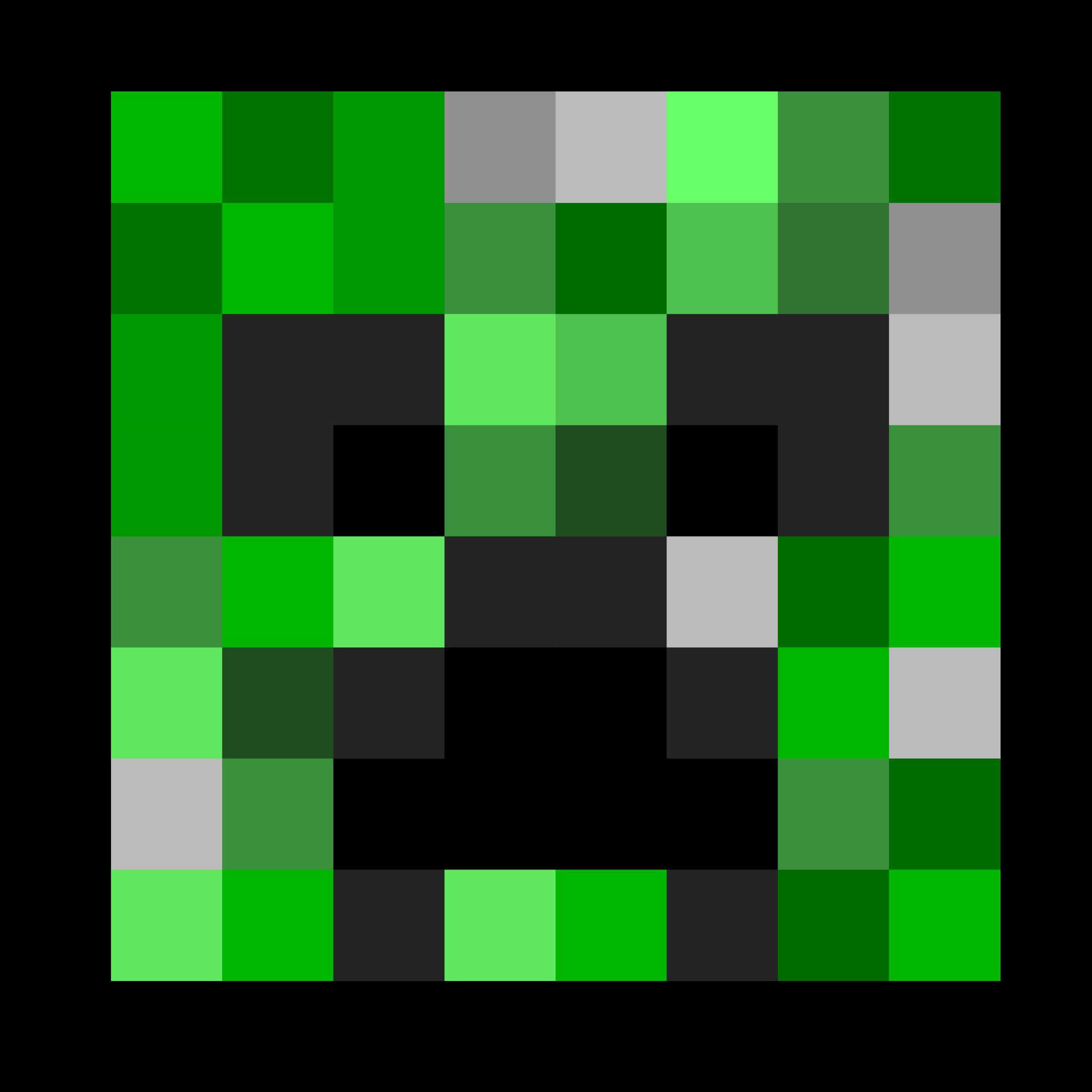 Creeper face big image. Cucumber clipart minecraft