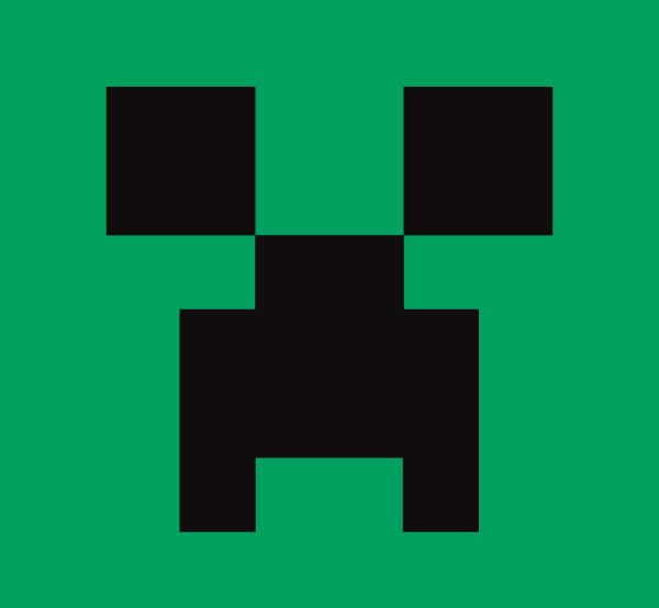 Minecraft clipart. Free download wolf face