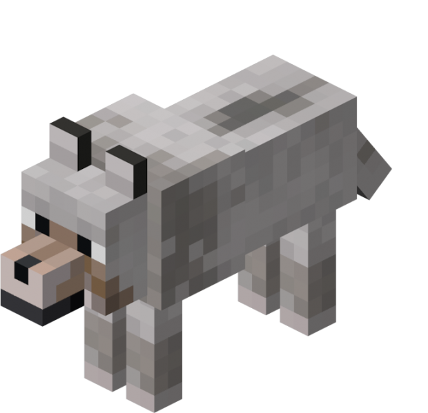 Wolves sooo cute and. Palace clipart minecraft