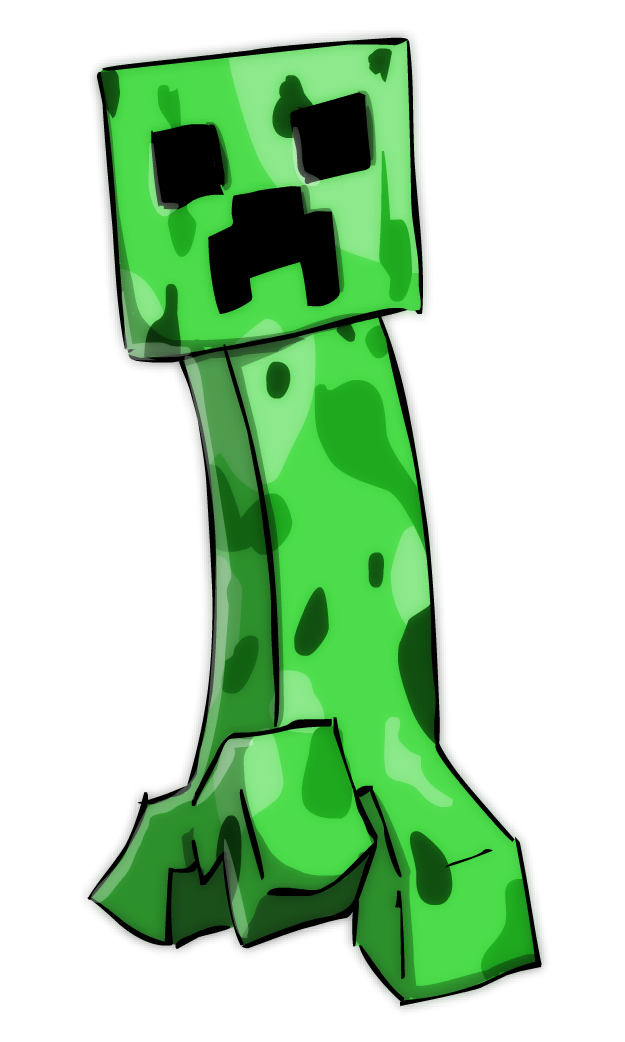 Creeper drawing at getdrawings. Minecraft clipart minecraft face