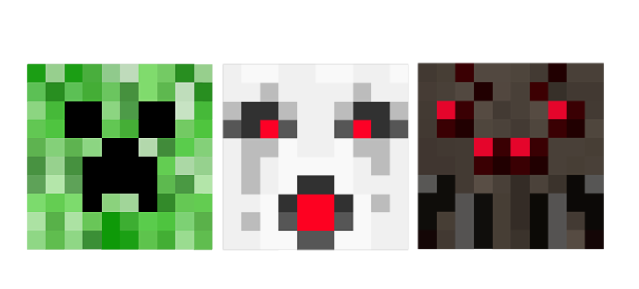Minecraft clipart minecraft heart. Creeper ghast spider oh