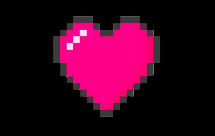 Minecraft clipart minecraft heart. Pixel cute pastel videogame