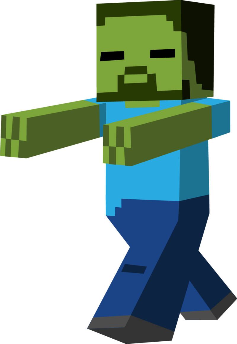 Zombie clipart minecraft.  collection of high