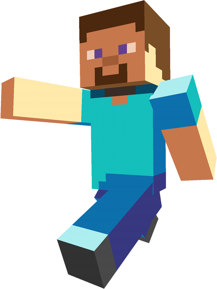 Minecraft png images. Steve blue and gold