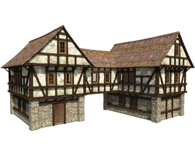 Minecraft house png. Middle ages manor gatehouse