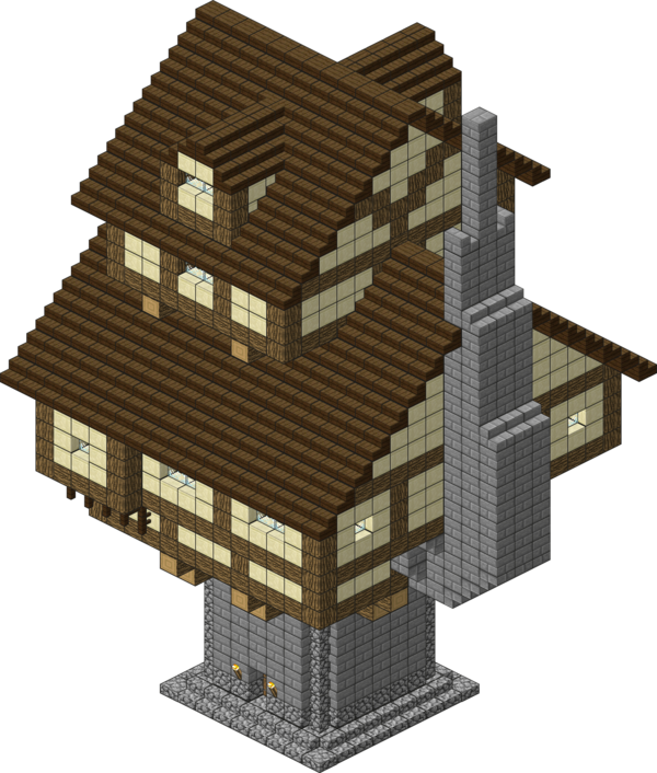 Medieval village alchemist by. Minecraft house png