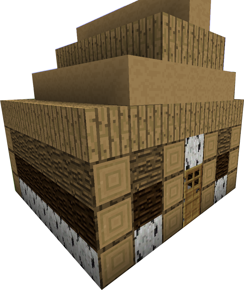 more wood v. Minecraft house png