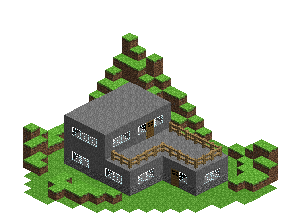 Minecraft house png. Stone wip by amunetra