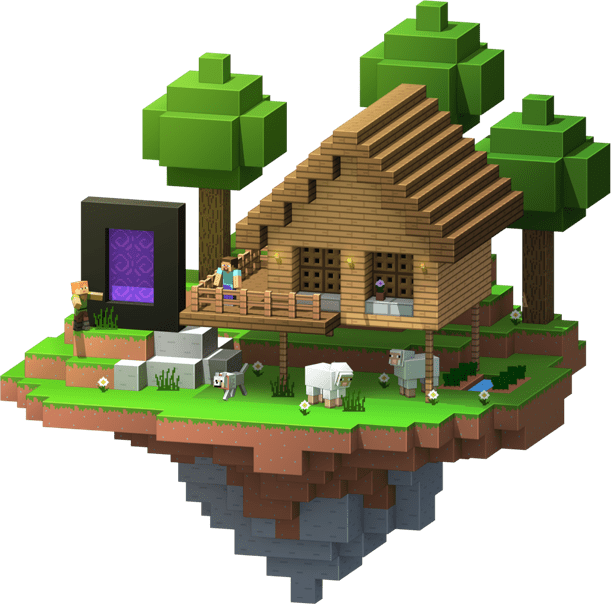 Minecraft house png. Online server hosting connection