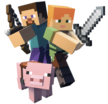 Minecraft png images. Fighting transparent stickpng download