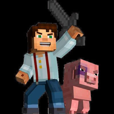 Minecraft png images. Transparent stickpng man pig