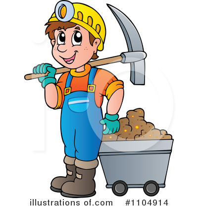 Miner illustration by visekart. Mining clipart