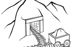 Coal portal . Mining clipart black and white