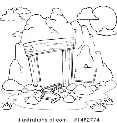 Mining clipart black and white. Illustration by visekart