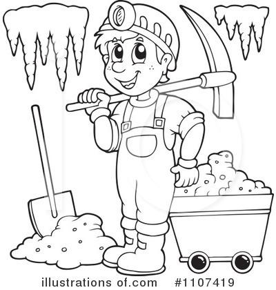 Illustration by visekart . Mining clipart black and white
