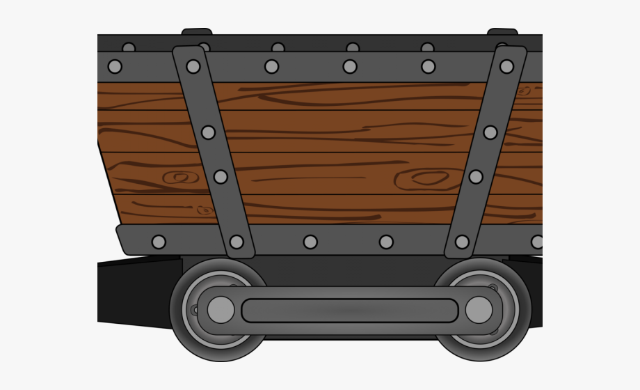 Cart coal mining mine. Wagon clipart animated