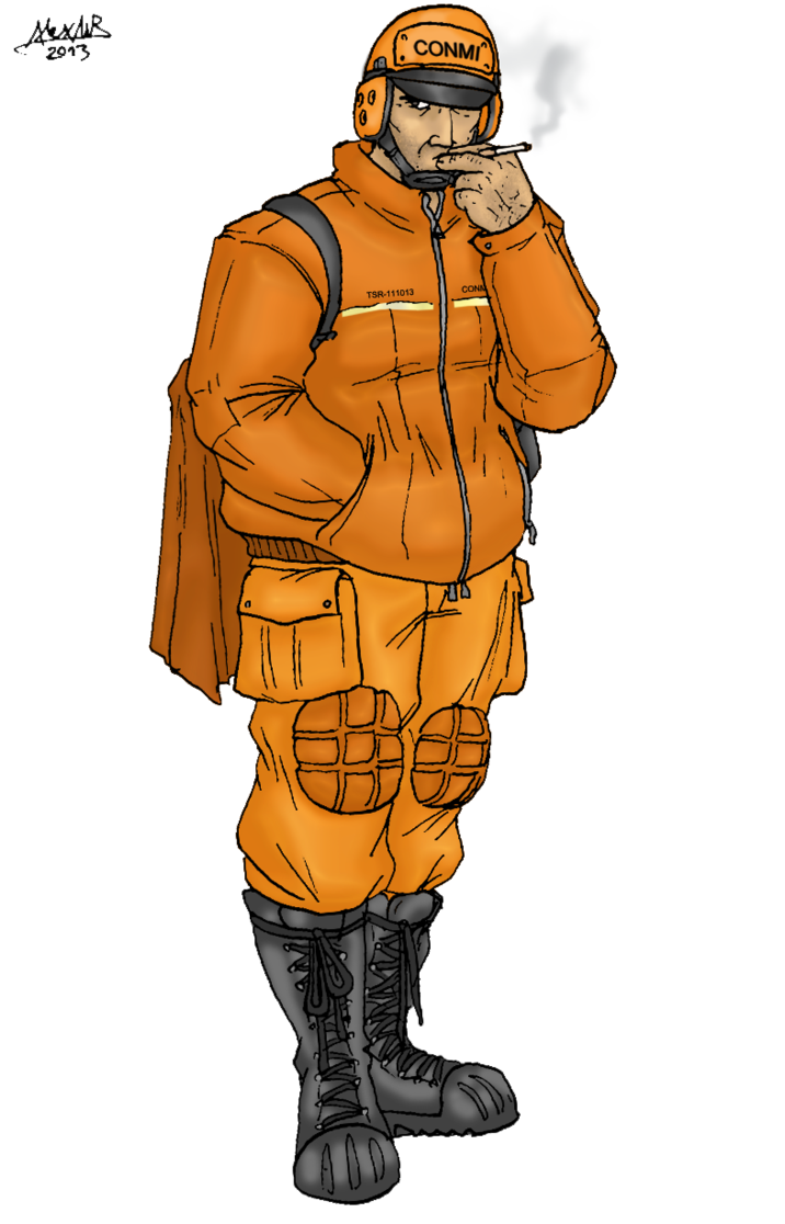 Conmi jako industrial clone. Mining clipart group worker