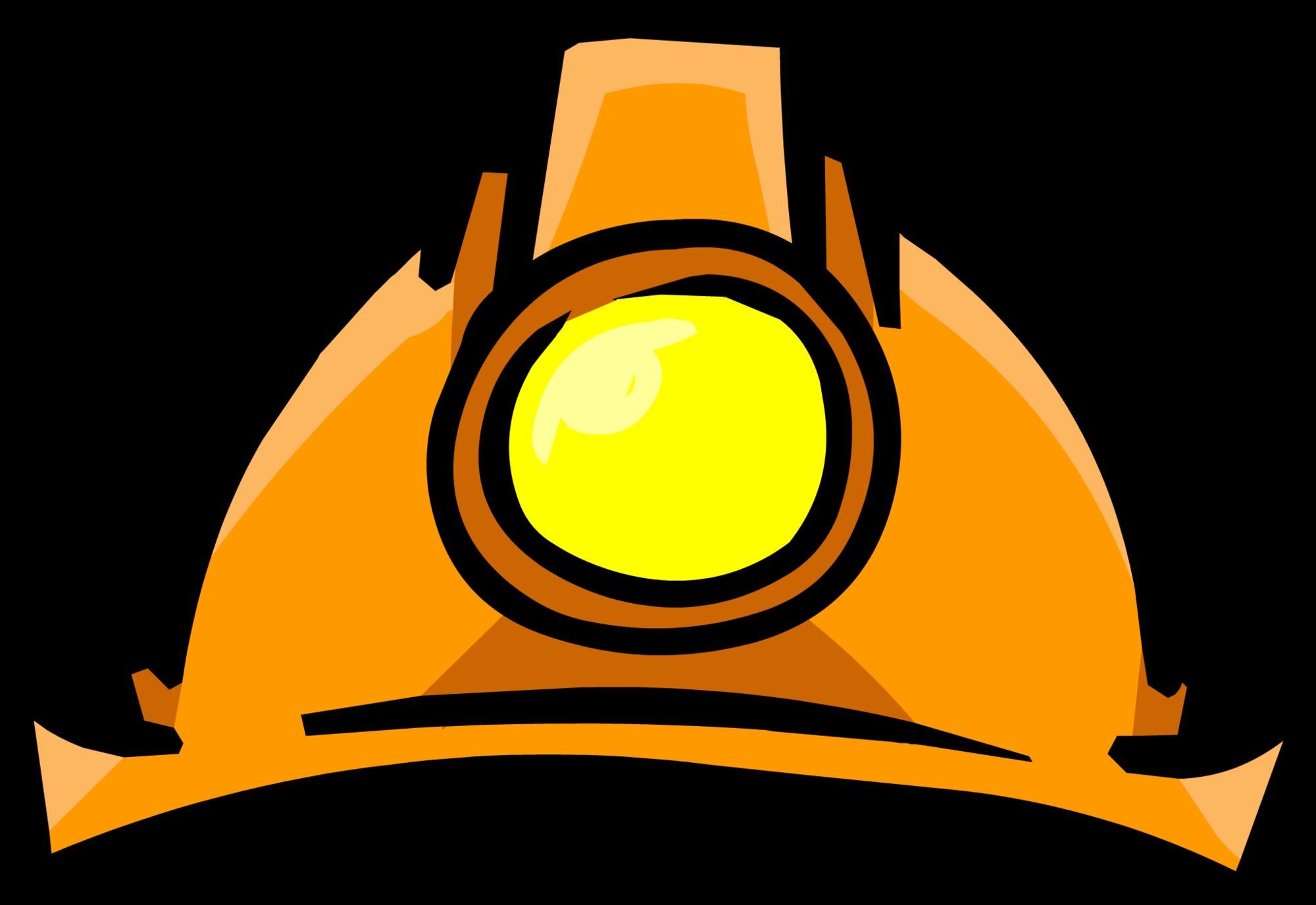 Mining clipart mining drill. Miners helmet club penguin