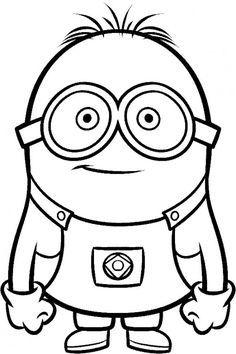 Minion clipart black and white. Google search