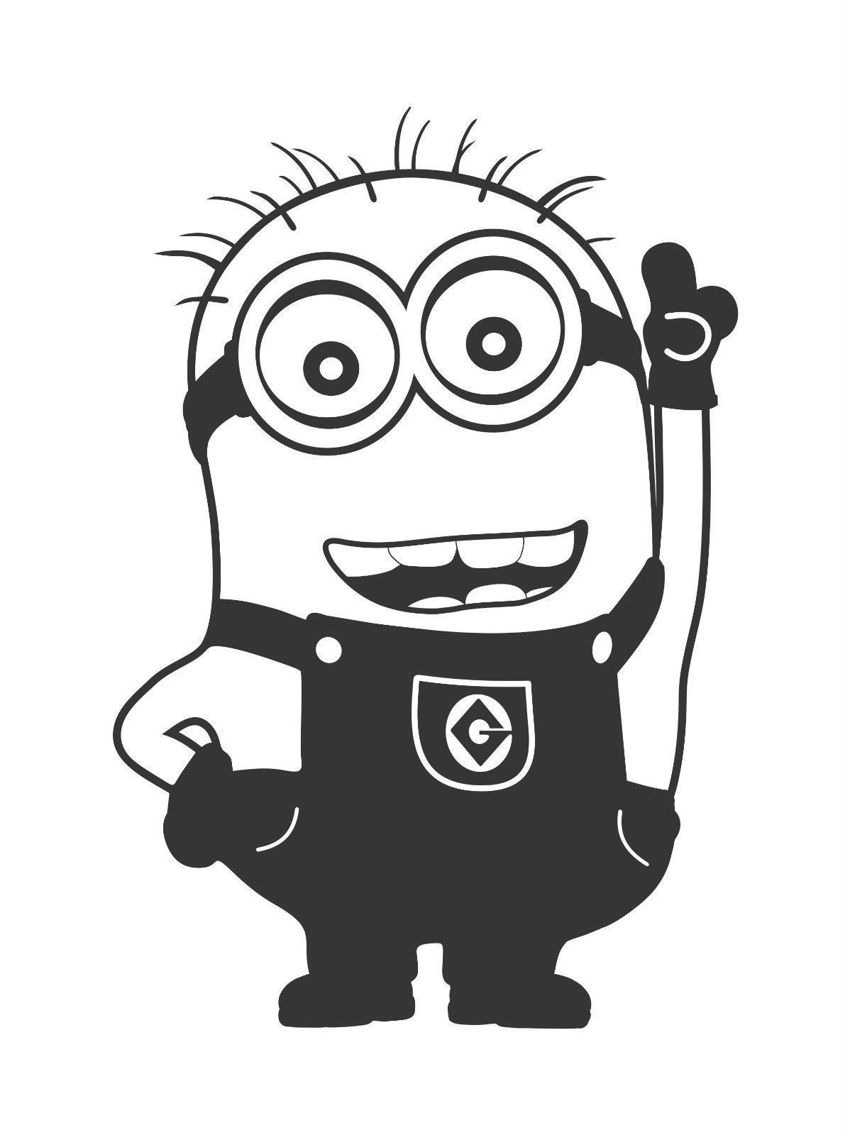Minions clipart outline. Pin on bl