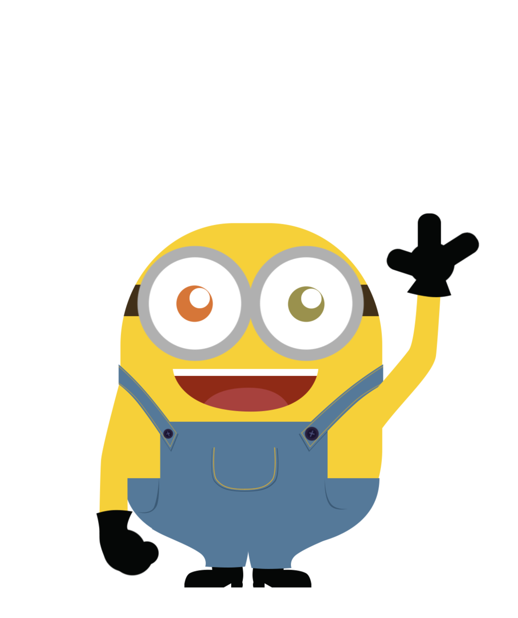 Bob front view by. Minions clipart vector