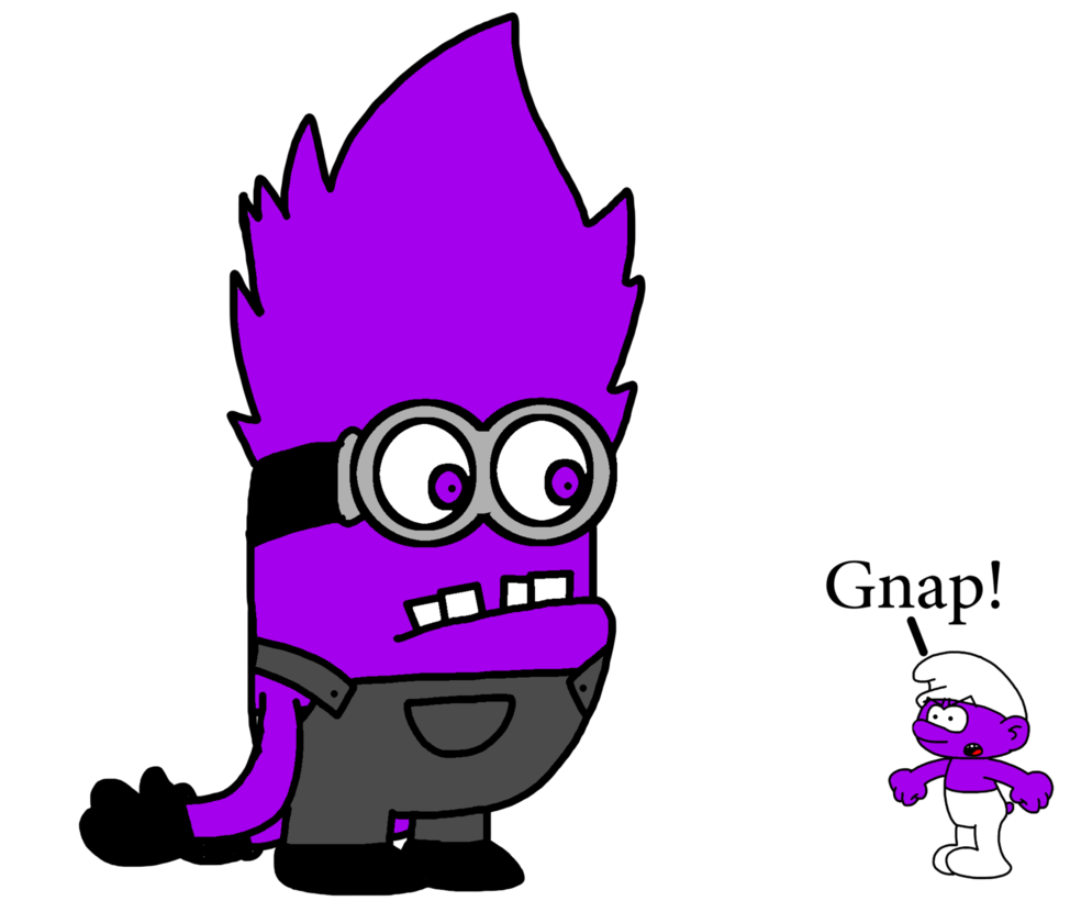 Evil meets smurf by. Minions clipart purple minion